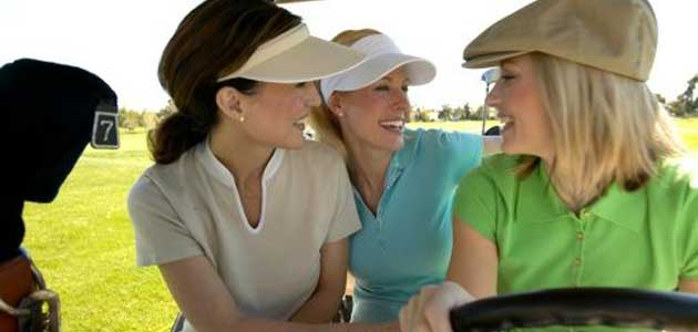 group of women golfers on course