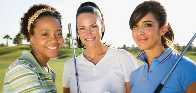 group of women on golf course